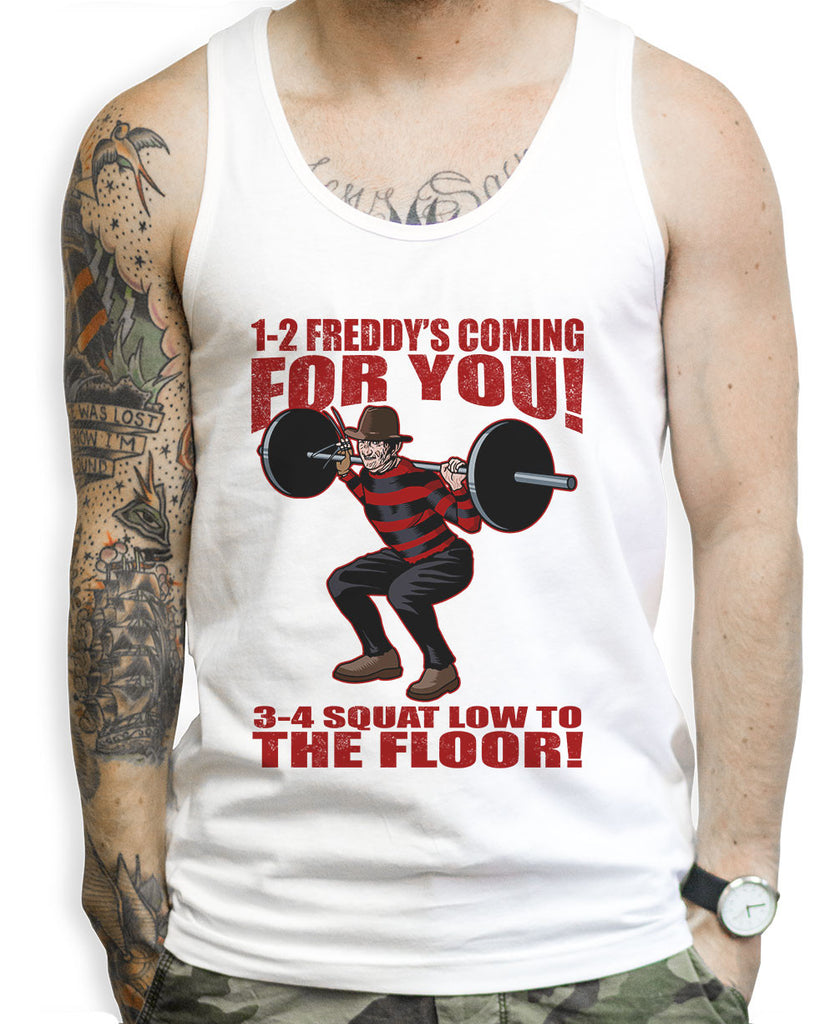 Freddy Kruger Squats Tank Tops