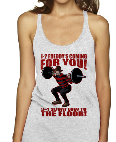 Freddy Kruger Squats Racerbacks