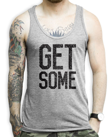 Get Some Athletic Grey Tank Top