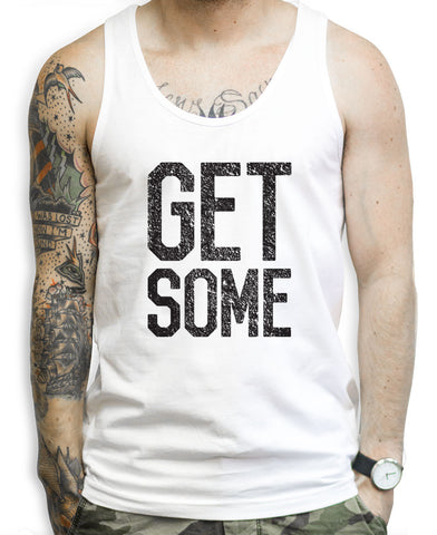 Get Some White Fitness Tank Top