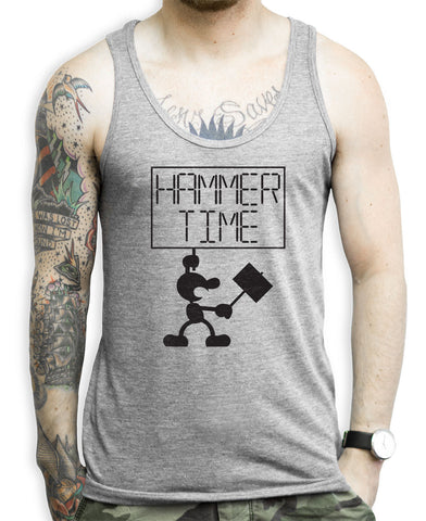Hammer Time on a Unisex Tank Top