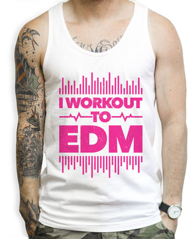 I Workout To EDM Tank Tops