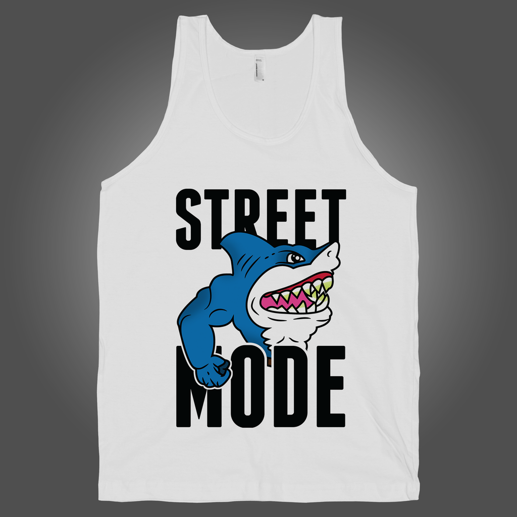 Street Mode on a White Tank Top