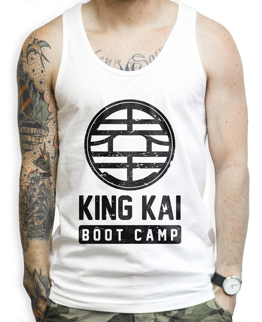King Kai Fitness on a Unisex Tank Top