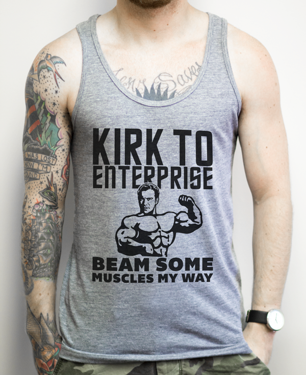 Nerdy Star Trek Workout Tank Top