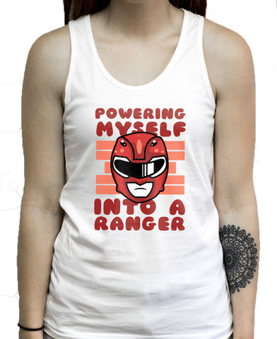 Powering Myself Into A Ranger on a Unisex Tank Top