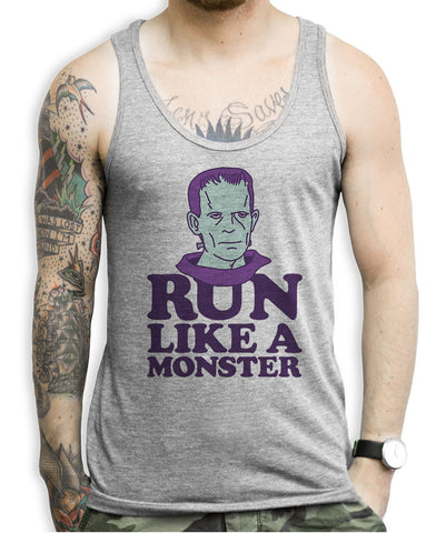 Run Like A Monster Tank Tops