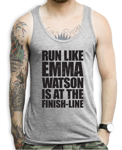 Run Like Emma Watson Is At The Finish Line Tank Top
