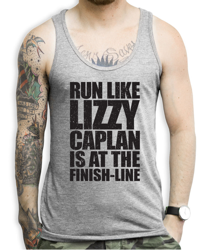 Run Like Lizzy Caplan Is At The Finish Line Tank Top
