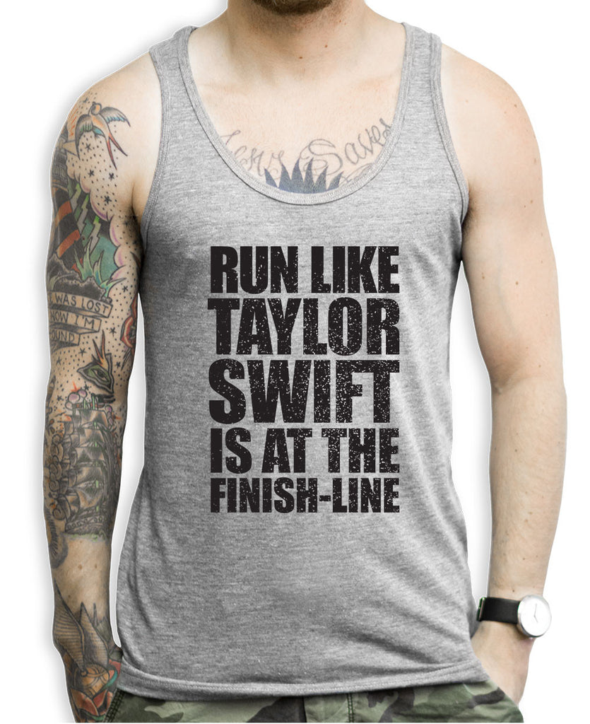 Run Like Taylor Swift Is At The Finish Line Tank Top