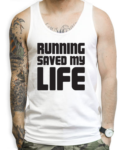 Running Saved My Life Tank Tops