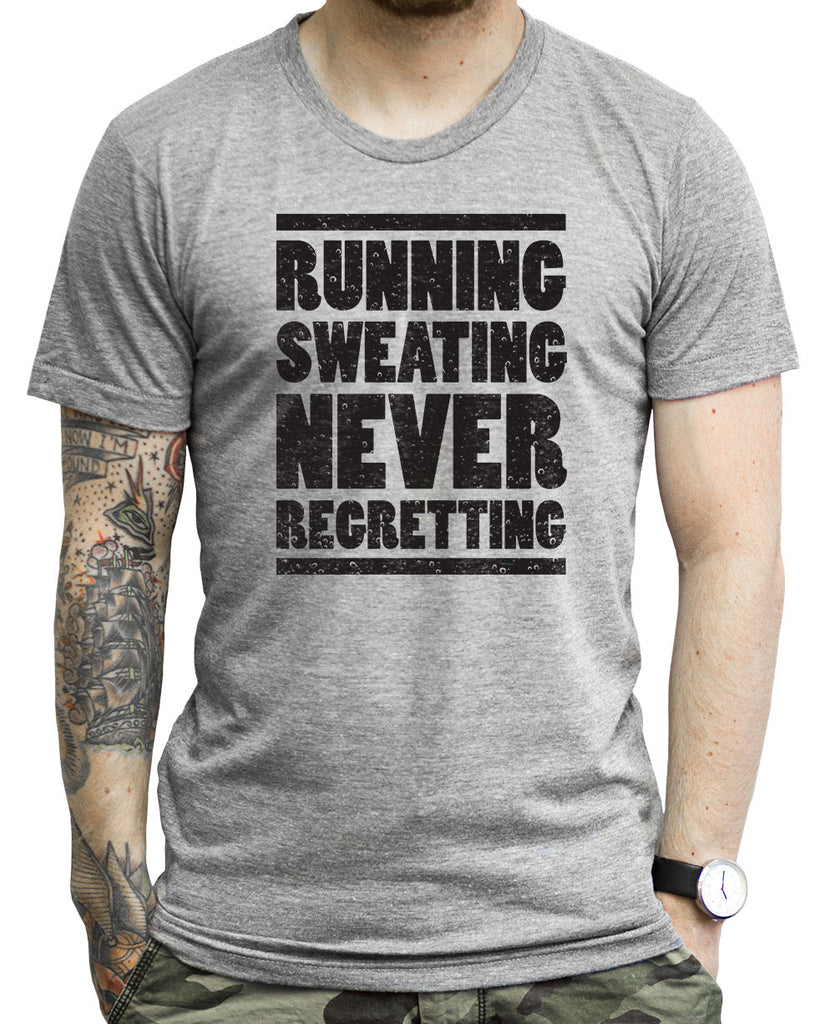 Running Sweating Never Forgetting on a Unisex Tank Top
