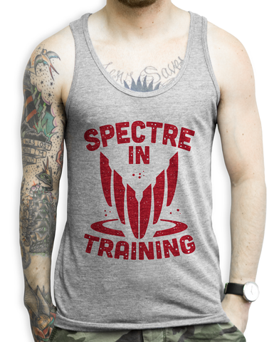 Spectre In Training on an Athletic Grey Unisex Tank Top