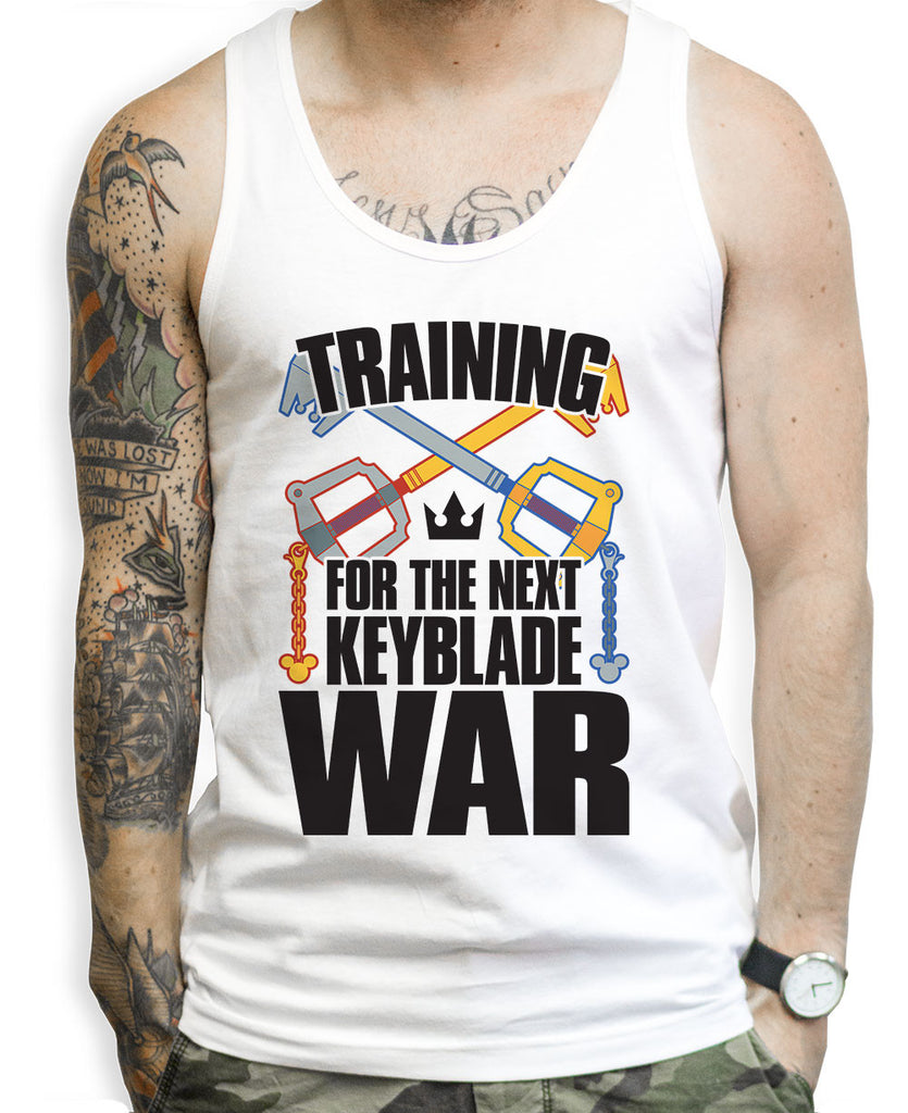 Training For The Next Key Blade War Tank Tops