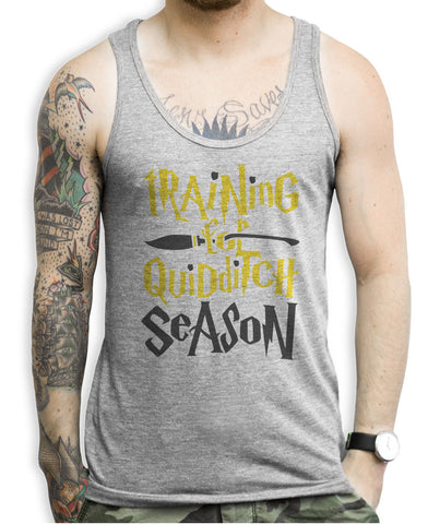 Training For The Quidditch Season Huffle Puff Tank Tops