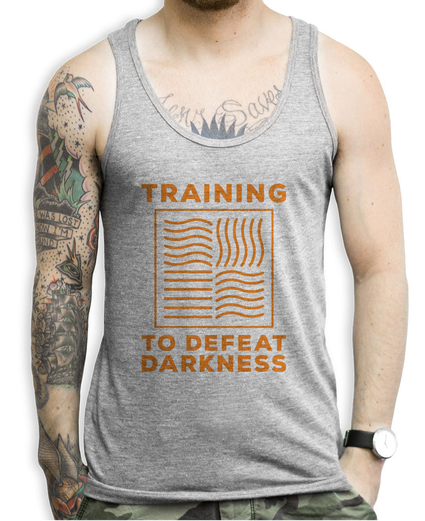 Training To Defeat The Darkness Tank Top