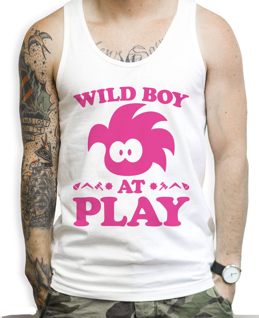 Wild Boy At Play Tank Tops