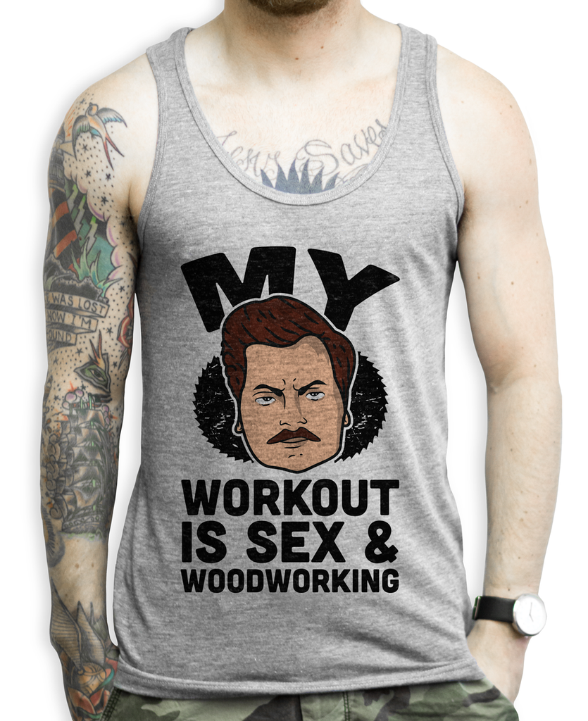 Rons Workout on a Tank Top