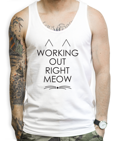 Working Out Right Meow Tank Tops