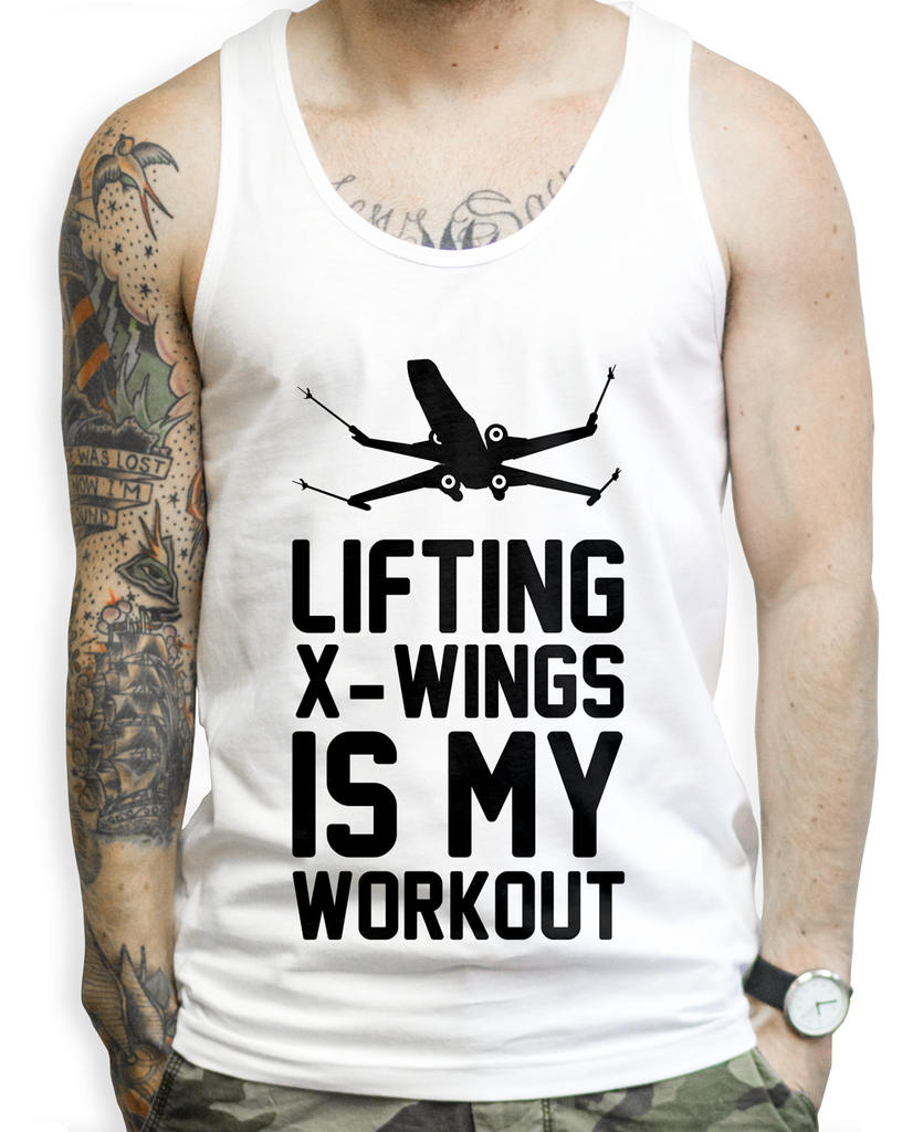 Liftin X-Wings on a Unisex Tank Top
