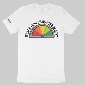 What's Your Character Score? Unisex T-Shirt | White