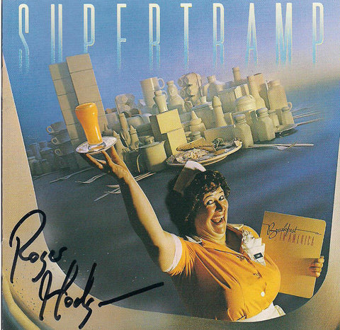 AUTOGRAPHED BREAKFAST IN AMERICA CD - REMASTERED SERIES