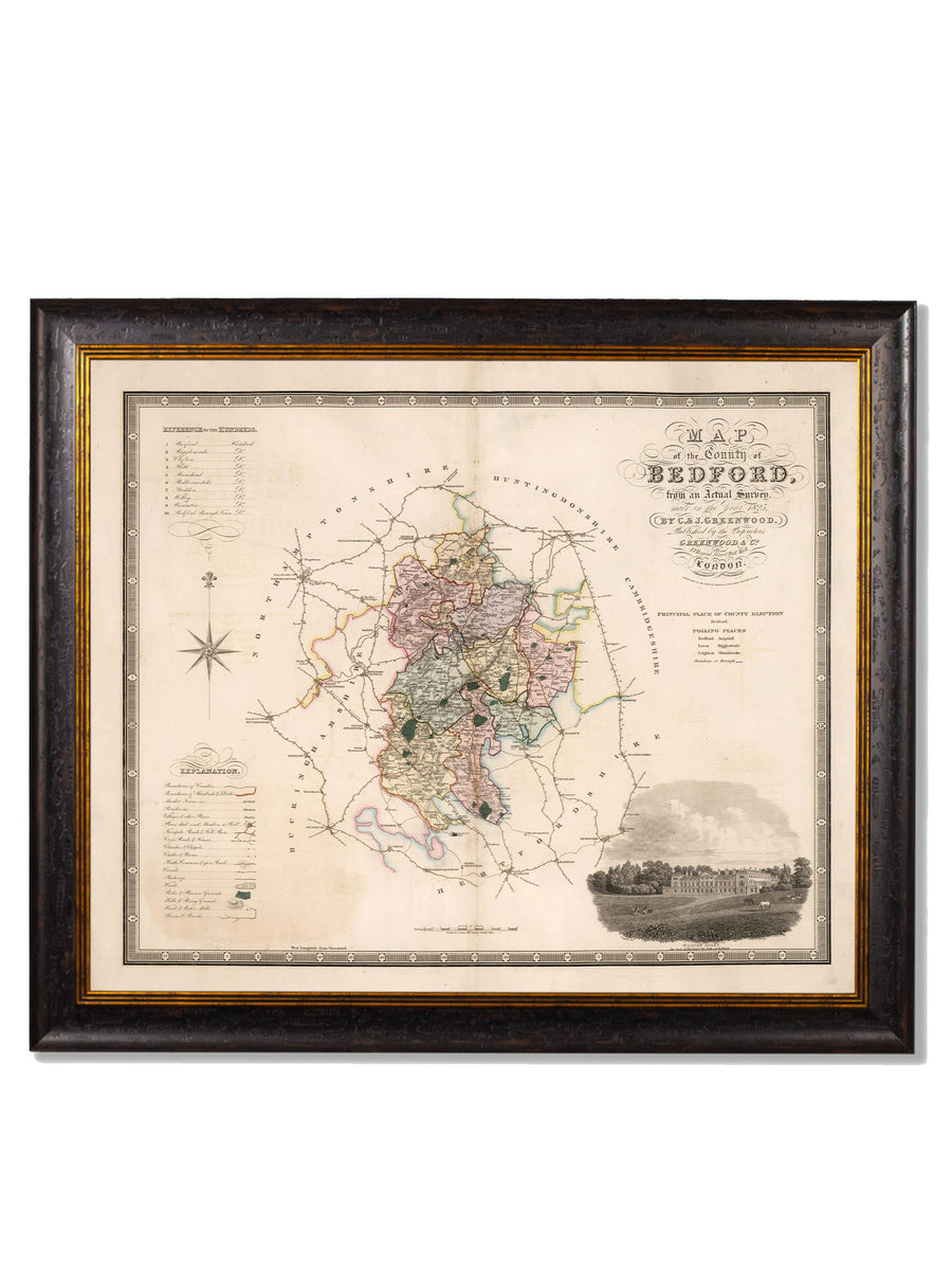 c.1830 Map of The County of Bedfordshire - The Weird & Wonderful