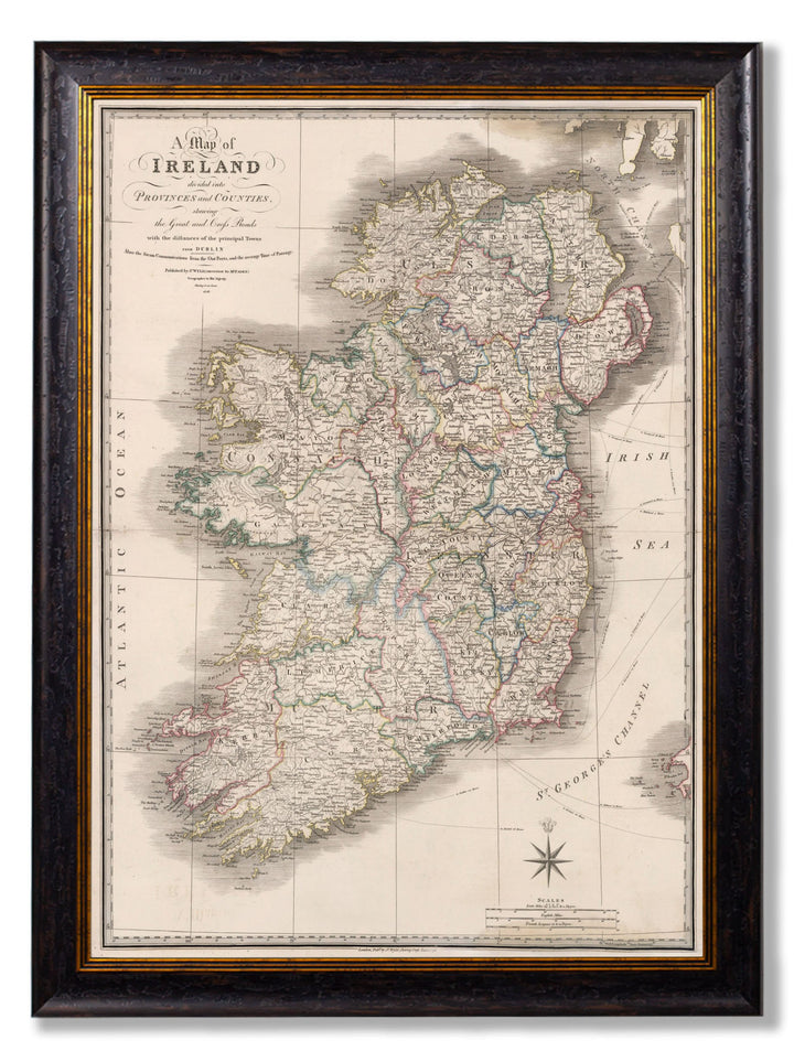 c.1838 Map of Ireland - The Weird & Wonderful