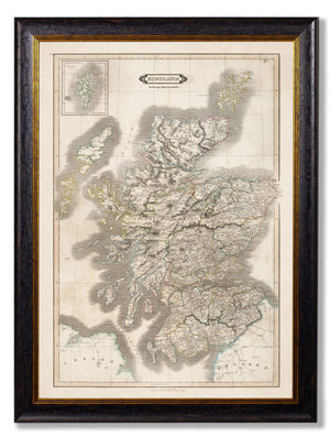 c.1831 Map of Scotland - The Weird & Wonderful