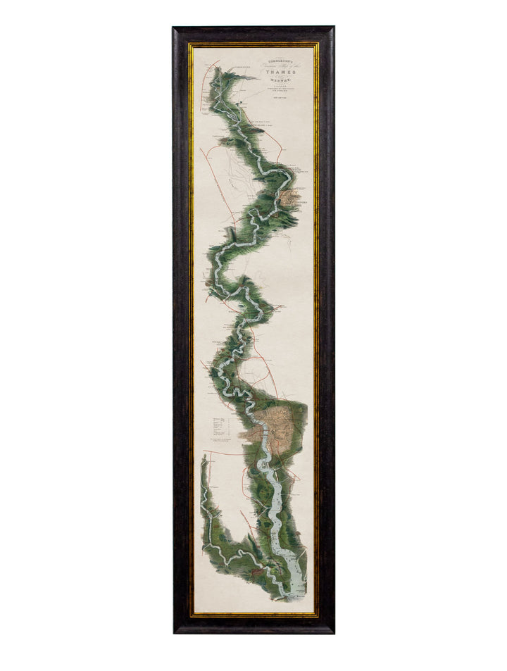 c.1834 Panoramic Map of the Thames - The Weird & Wonderful