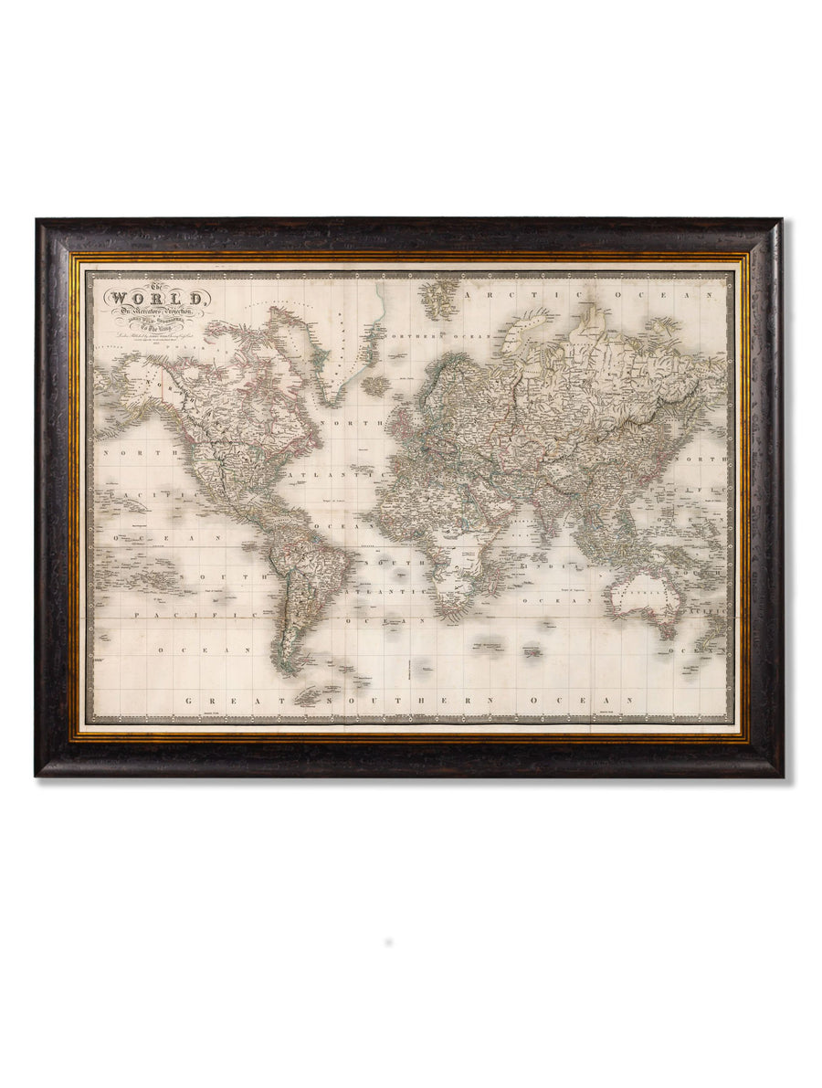 c.1838 Map of The World - The Weird & Wonderful