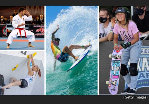 New sports for the 2020 Olympics - Karate-sportclimbing-surfing-skateboarding