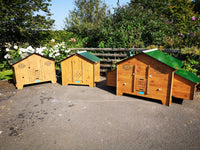 Easicoop MAXI Country - HPL Chicken House 10-18 Birds wood finish