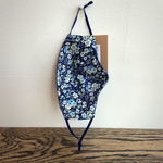 Load image into Gallery viewer, Billy Bamboo Mask (Chambray Exterior & Blue Floral Interior)