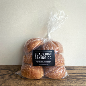 Blackbird Bakery Sesame Seed Hamburger Buns 6-Pack