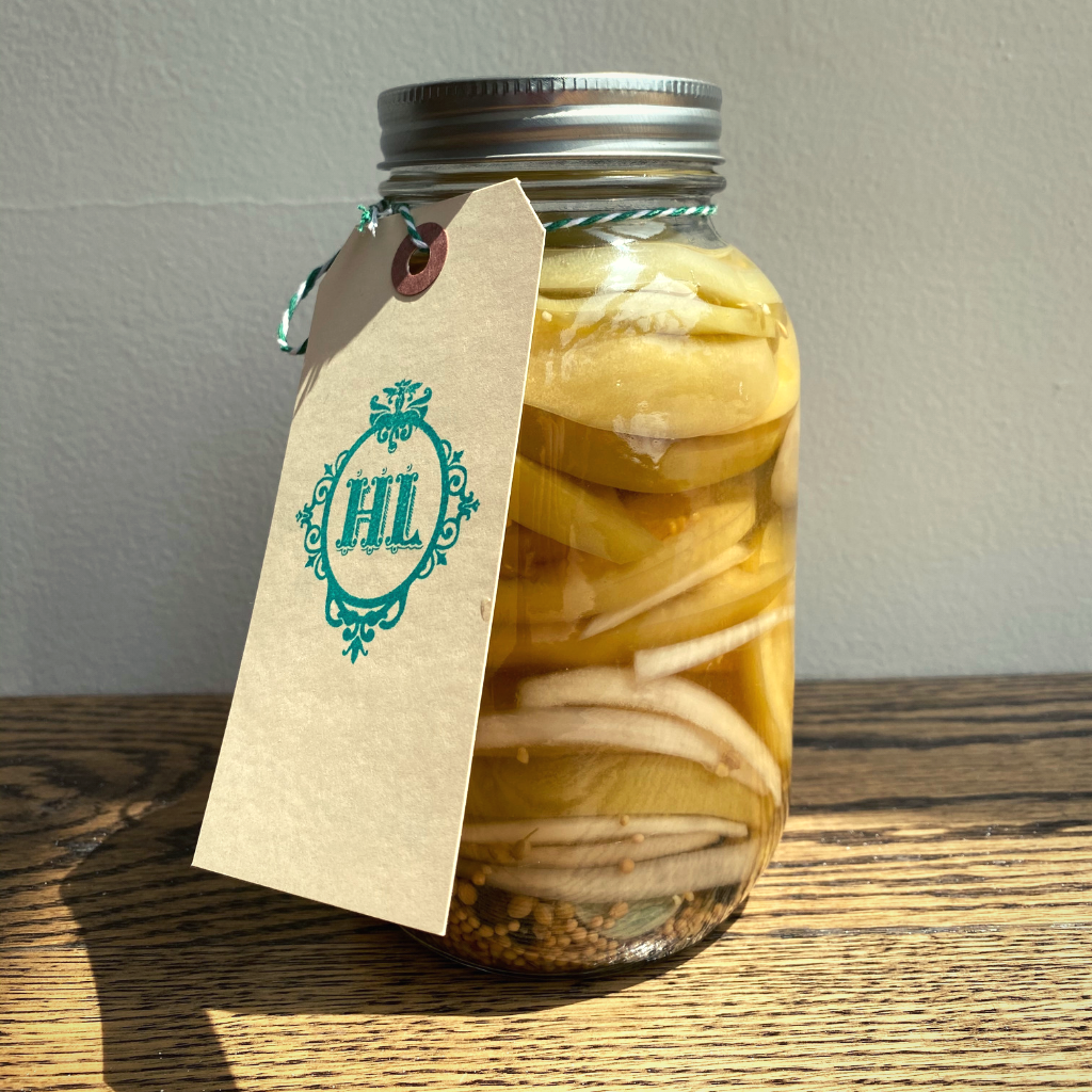 Image of Pickled Green Tomato Slices in Henrietta Lane