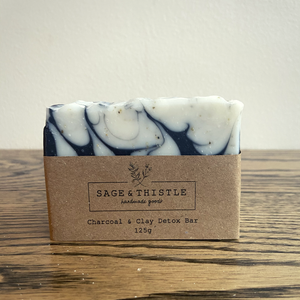 Sage & Thistle Charcoal & Clay Detox Soap