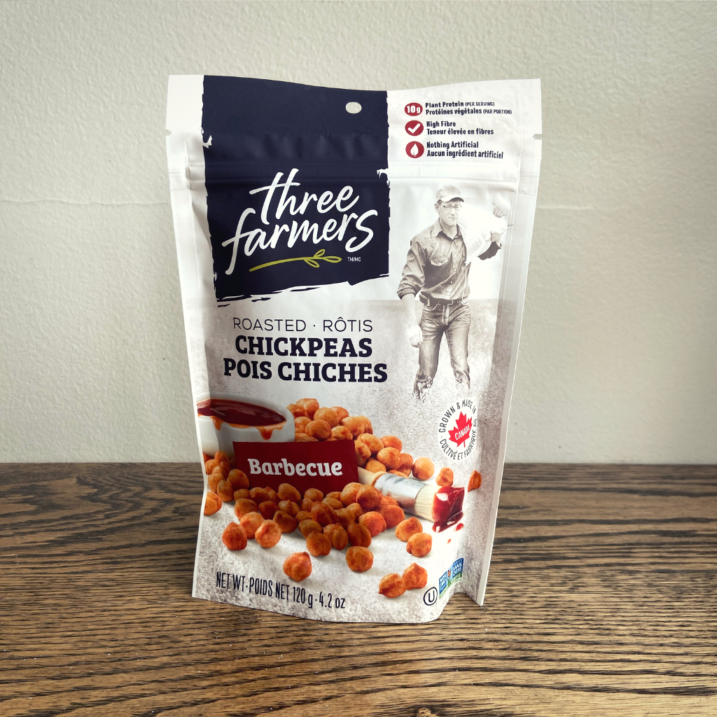 Three Farmers Roasted Chickpeas - Barbeque (120g)