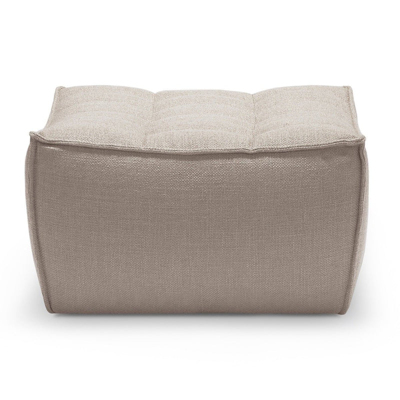Beige Footsool Sofa N701 ottoman Ethnicraft