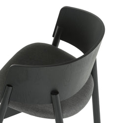 Halla Plus Black Dining Chair Chair Elysium