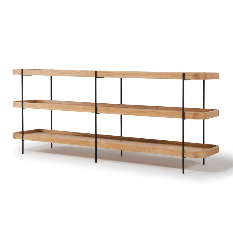 Idaho Oak 3 Shelf Unit Bookshelf Papaya