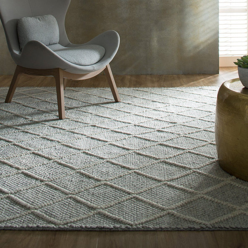 Ivy Fog Cream Rug Rug Bayliss