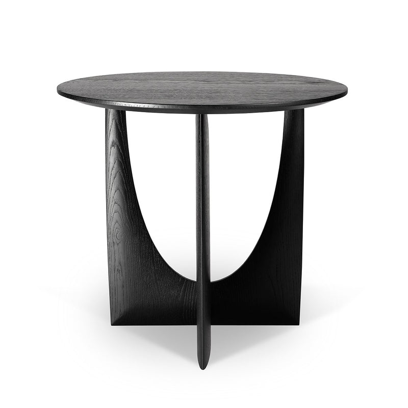 Oak Black Geometric Side Table Side Table Ethnicraft