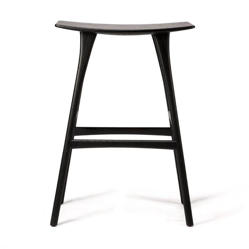 Oak Black Osso Bar Stool Stool Ethnicraft