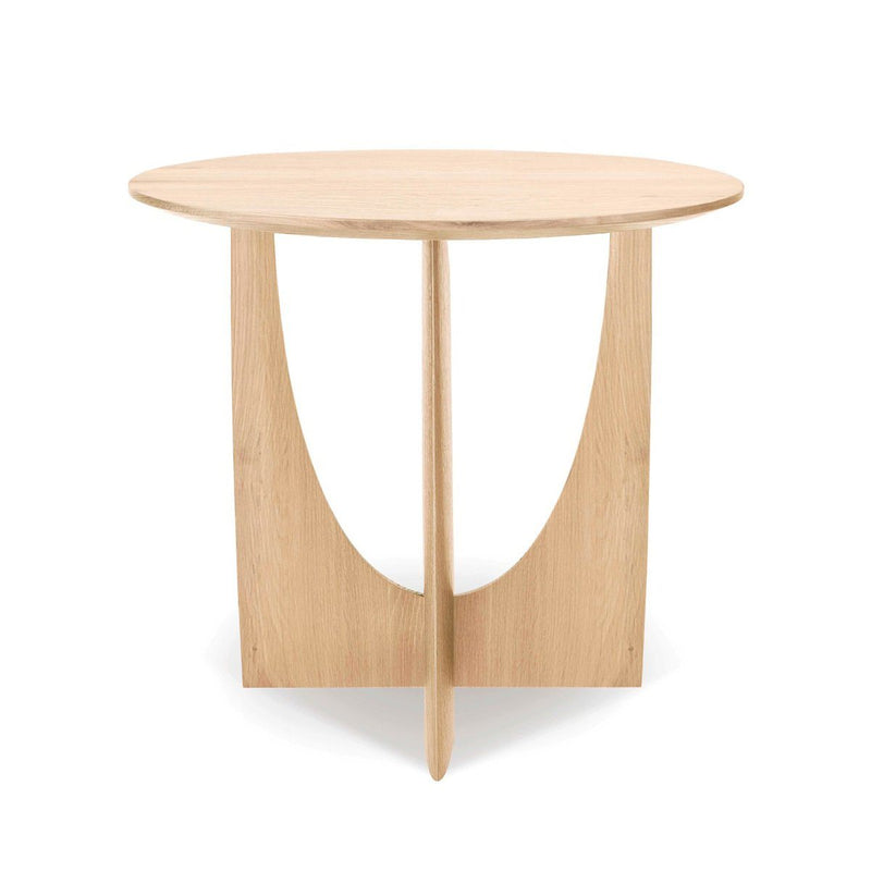 Oak Geometric Side Table Side Table Ethnicraft