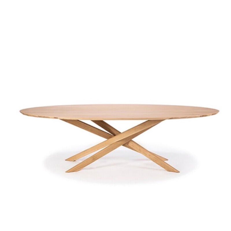 Oak Mikado Oval Coffee Table Coffee Table Ethnicraft