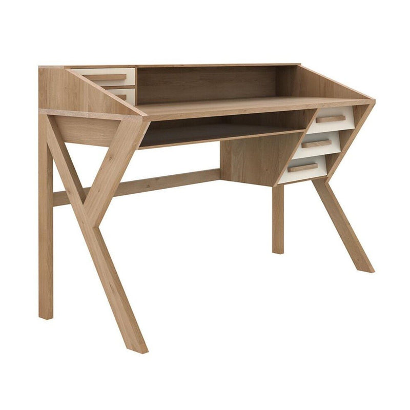 Oak Origami Desk Cream Desk Ethnicraft