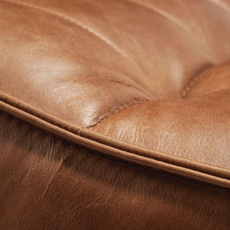 Old Saddle Leather Corner Round Sofa N701 Sofa Ethnicraft