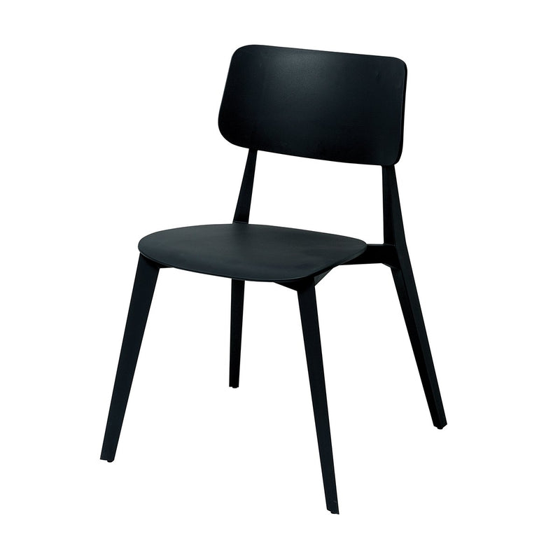 Stellar Dining Chair Stackable Black Chair Papaya