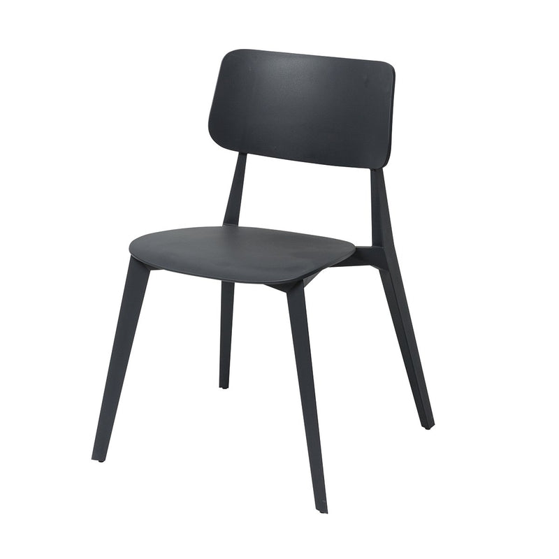 Stellar Dining Chair Stackable Charcoal Chair Papaya